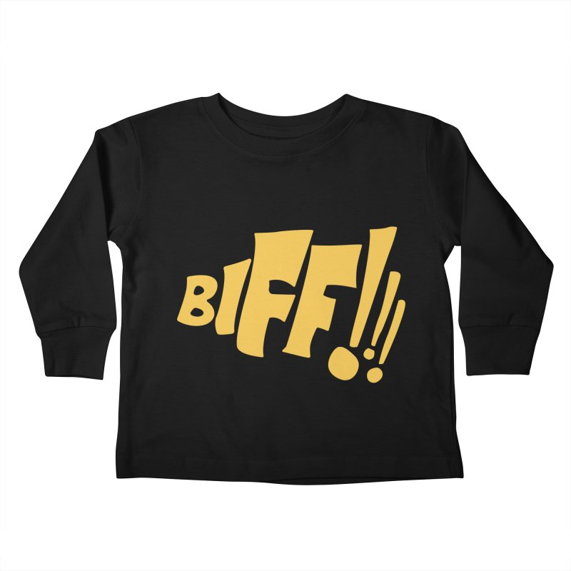 Biff!!! Comic Book Sound Effect Kids Toddler Longsleeve T-Shirt by Dean Cole Design