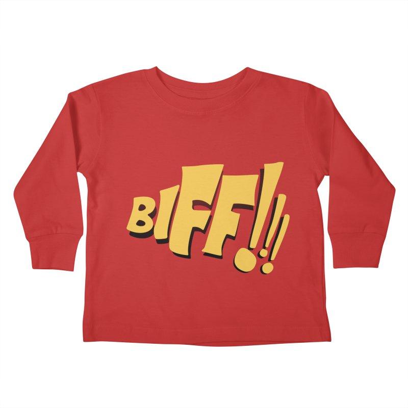 Biff!!! Comic Book Sound Effect Kids Toddler Longsleeve T-Shirt by Dean Cole Design