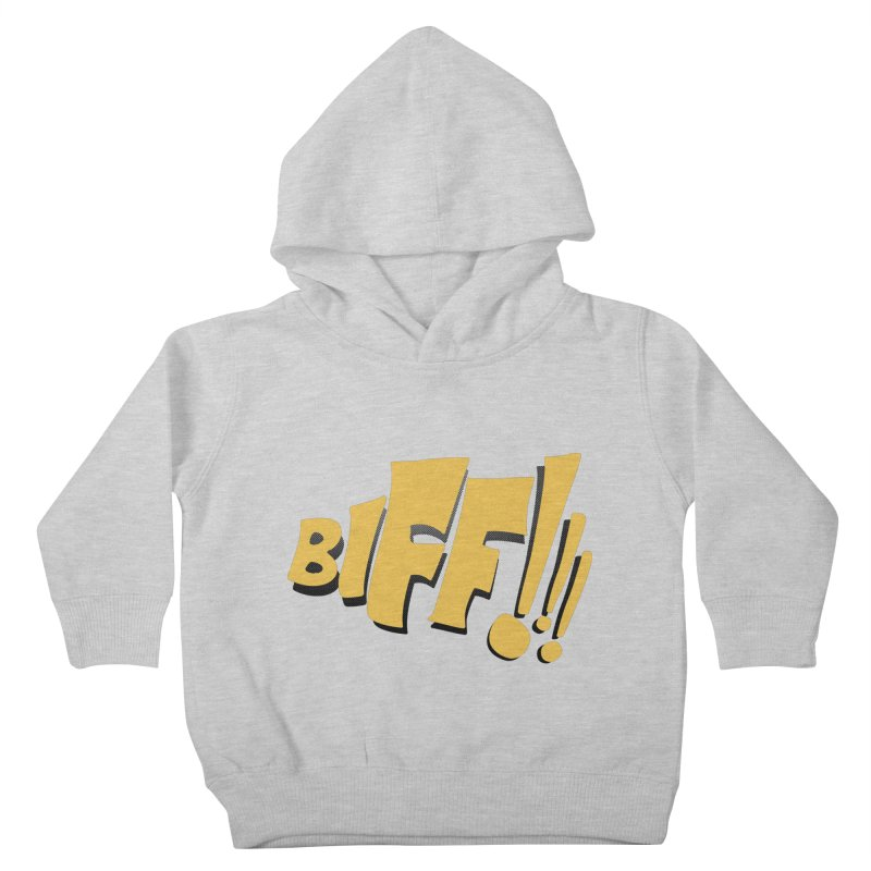 Biff!!! Comic Book Sound Effect Kids Toddler Pullover Hoody by Dean Cole Design