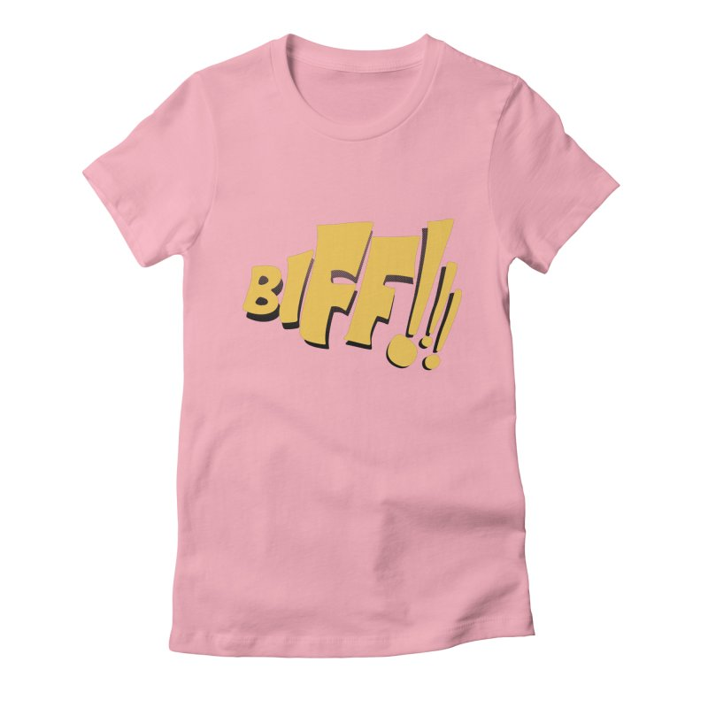 Biff!!! Comic Book Sound Effect Women's Fitted T-Shirt by Dean Cole Design