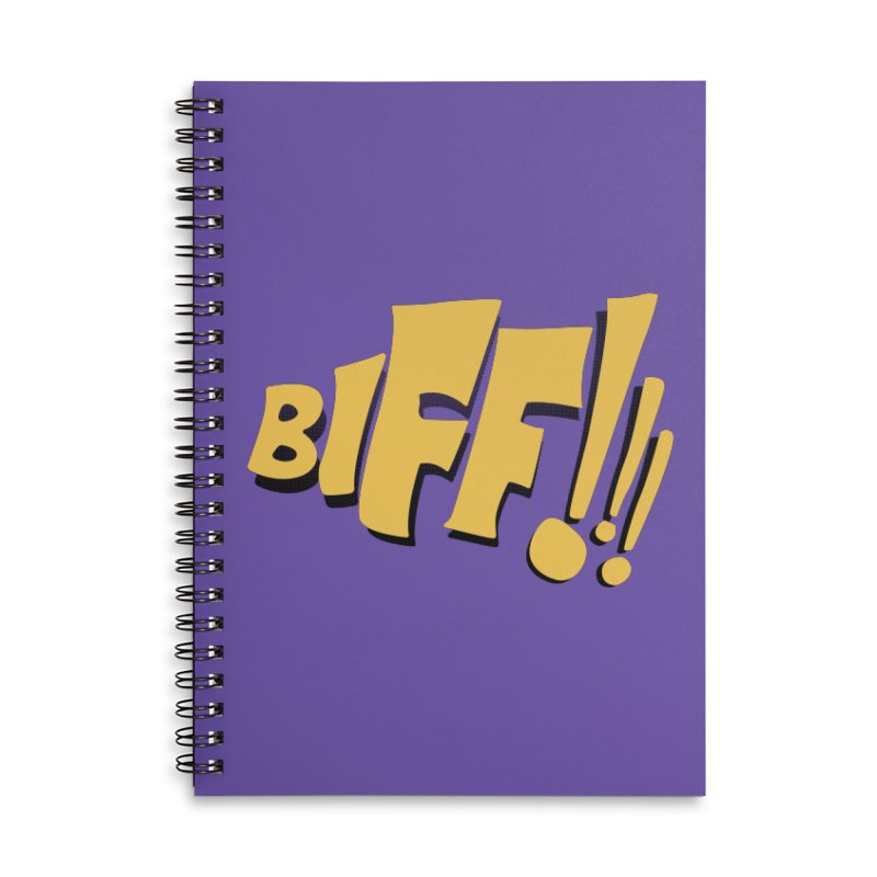Biff!!! Comic Book Sound Effect Accessories Lined Spiral Notebook by Dean Cole Design