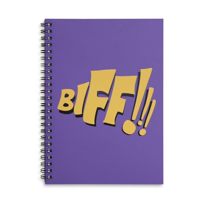 Biff!!! Comic Book Sound Effect Accessories Notebook by Dean Cole Design