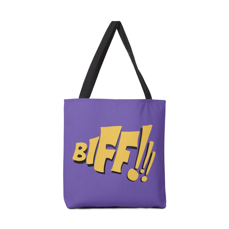Biff!!! Comic Book Sound Effect Accessories Tote Bag Bag by Dean Cole Design