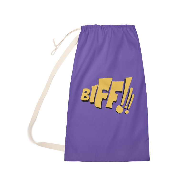 Biff!!! Comic Book Sound Effect Accessories Laundry Bag Bag by Dean Cole Design