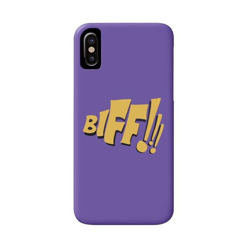 Biff!!! Comic Book Sound Effect Accessories Phone Case by Dean Cole Design