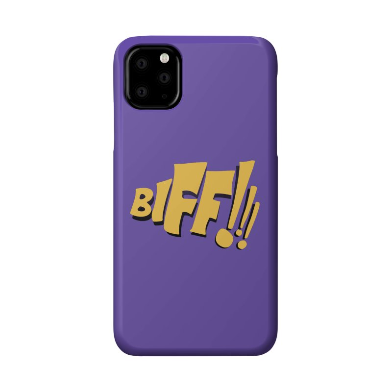 Biff!!! Comic Book Sound Effect Accessories Phone Case by Dean Cole Design
