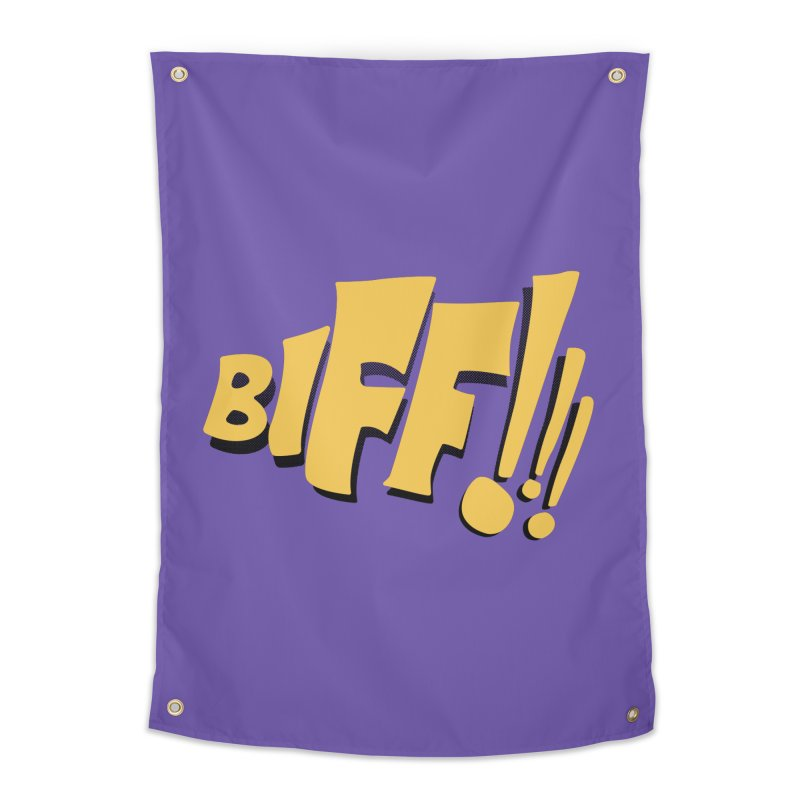 Biff!!! Comic Book Sound Effect Home Tapestry by Dean Cole Design
