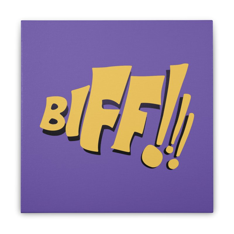 Biff!!! Comic Book Sound Effect Home Stretched Canvas by Dean Cole Design