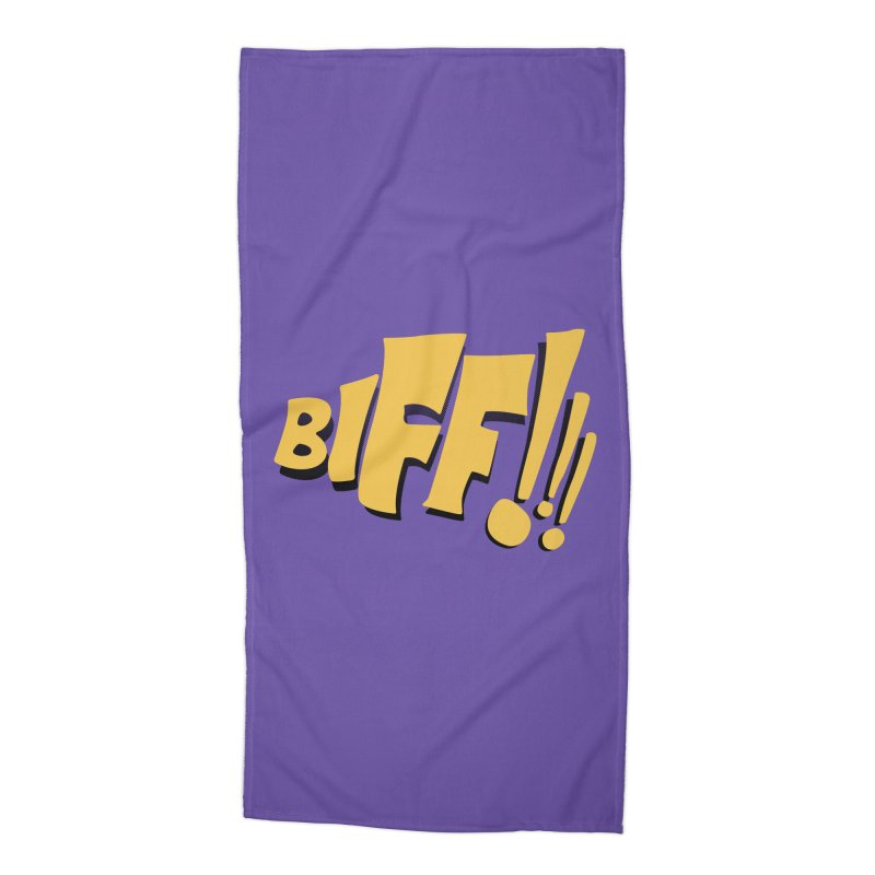 Biff!!! Comic Book Sound Effect Accessories Beach Towel by Dean Cole Design