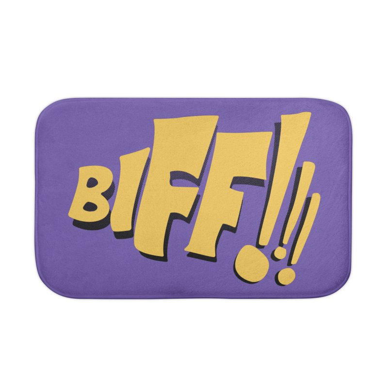 Biff!!! Comic Book Sound Effect Home Bath Mat by Dean Cole Design