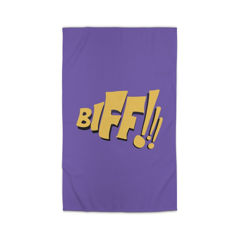 Biff!!! Comic Book Sound Effect Home Rug by Dean Cole Design
