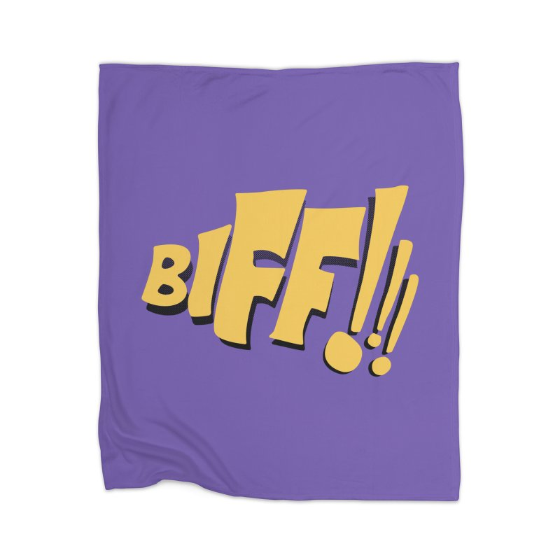 Biff!!! Comic Book Sound Effect Home Blanket by Dean Cole Design