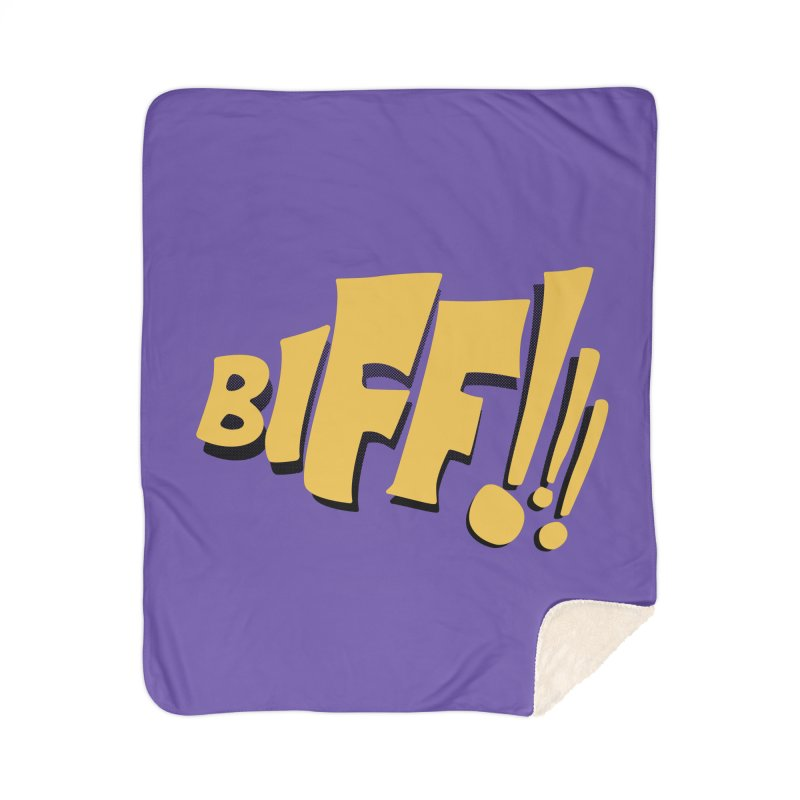 Biff!!! Comic Book Sound Effect Home Sherpa Blanket Blanket by Dean Cole Design