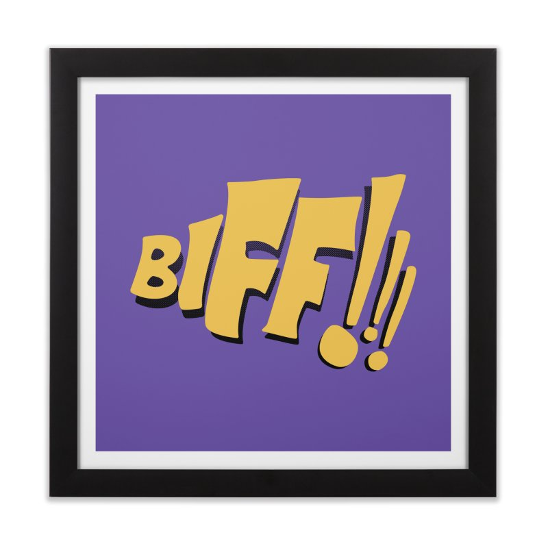 Biff!!! Comic Book Sound Effect Home Framed Fine Art Print by Dean Cole Design
