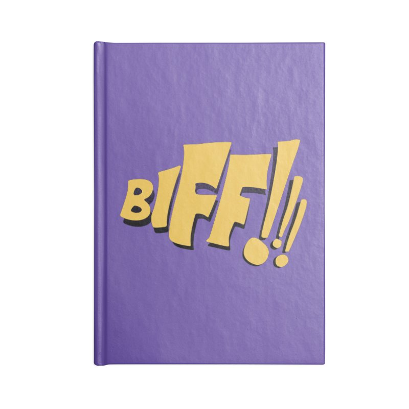 Biff!!! Comic Book Sound Effect Accessories Lined Journal Notebook by Dean Cole Design