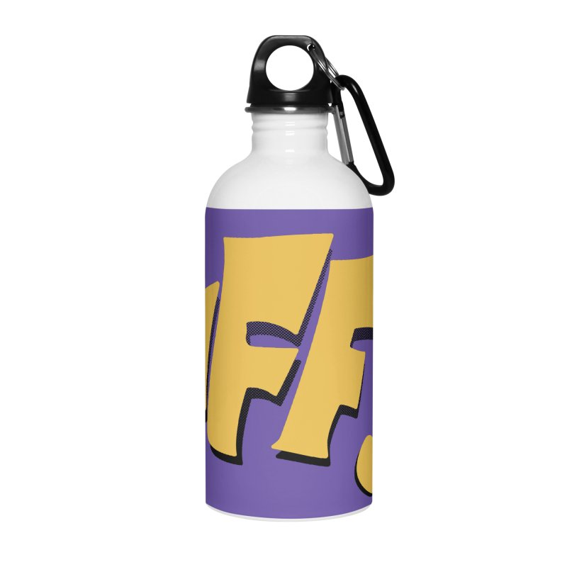 Biff!!! Comic Book Sound Effect Accessories Water Bottle by Dean Cole Design
