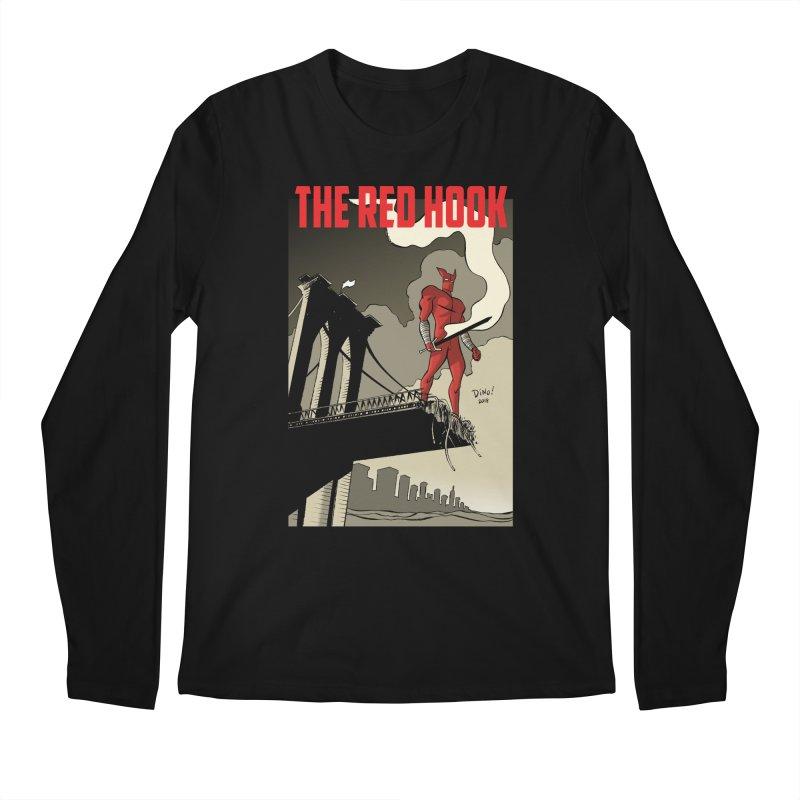 New Brooklyn in Men's Regular Longsleeve T-Shirt Black by Dean Haspiel