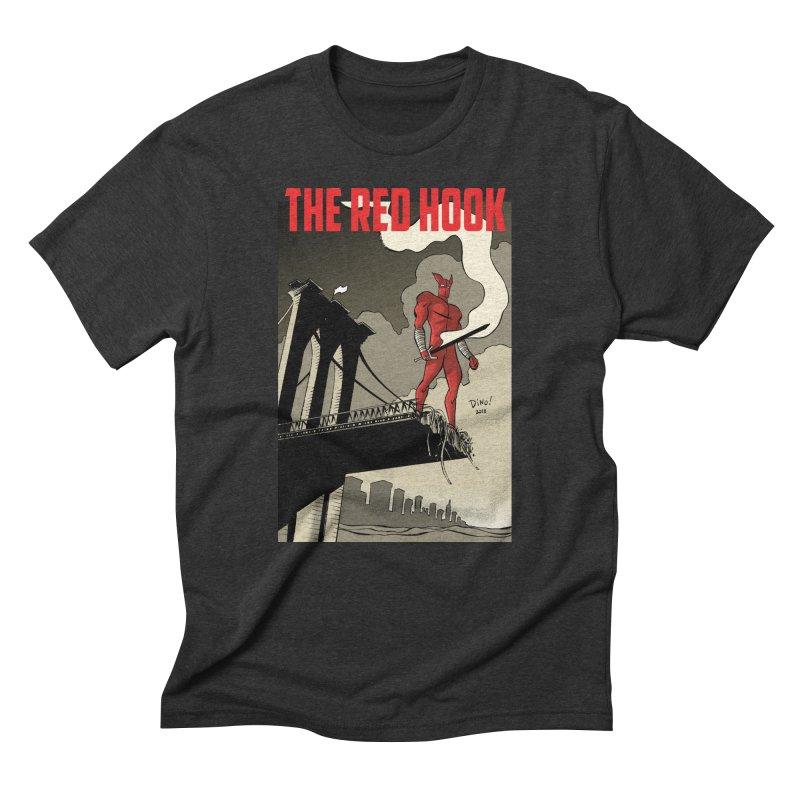 New Brooklyn in Men's Triblend T-Shirt Heather Onyx by Dean Haspiel