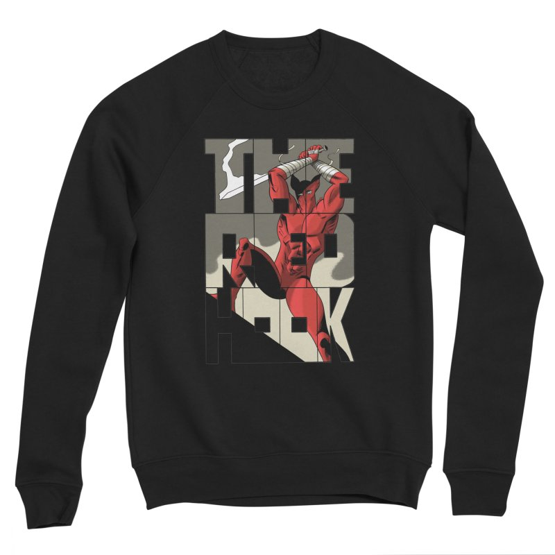 The Red Hook in Men's Sponge Fleece Sweatshirt Black by Dean Haspiel