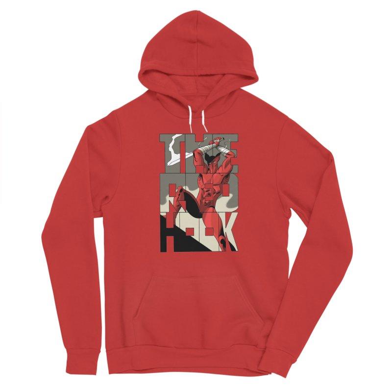 The Red Hook in Men's Sponge Fleece Pullover Hoody Red by Dean Haspiel