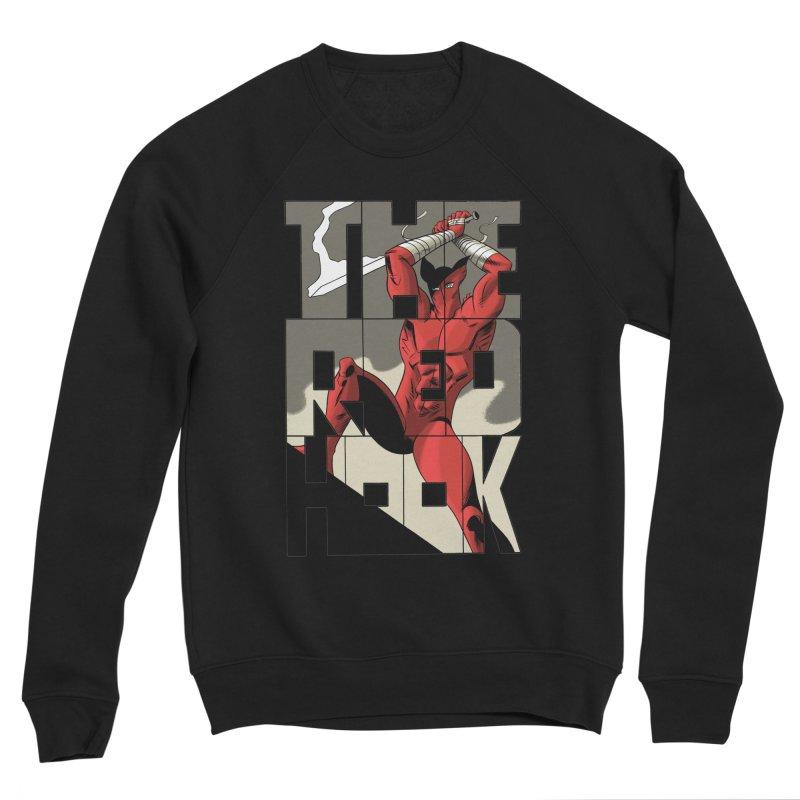 The Red Hook in Men's Sponge Fleece Sweatshirt Black by Dean Haspiel