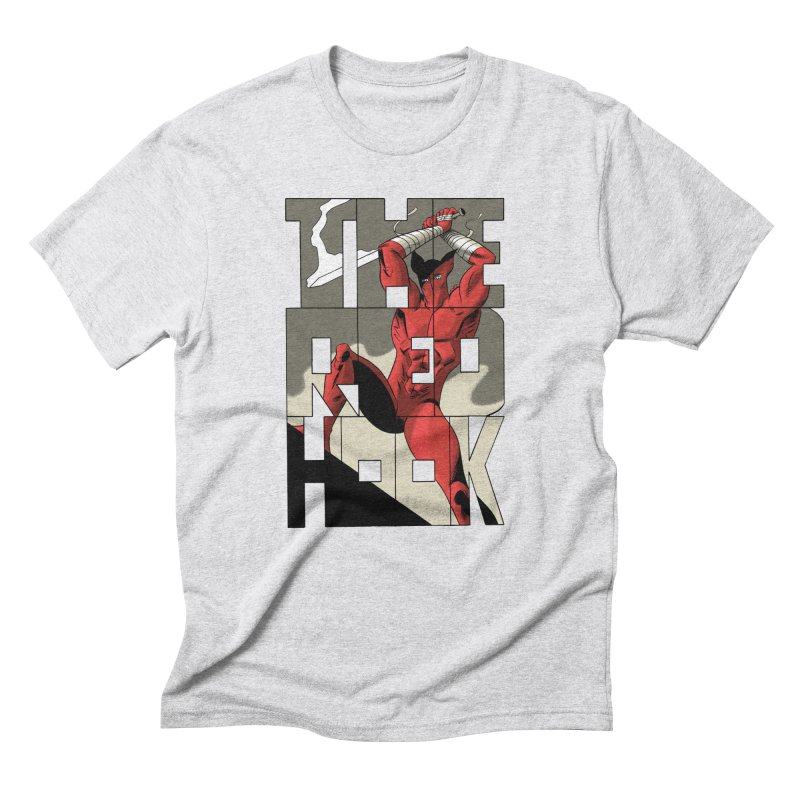 The Red Hook in Men's Triblend T-Shirt Heather White by Dean Haspiel