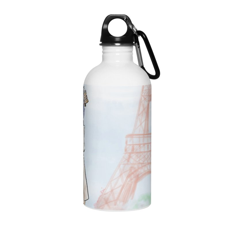 Springtime in Paris Accessories Water Bottle by deannakei's Artist Shop