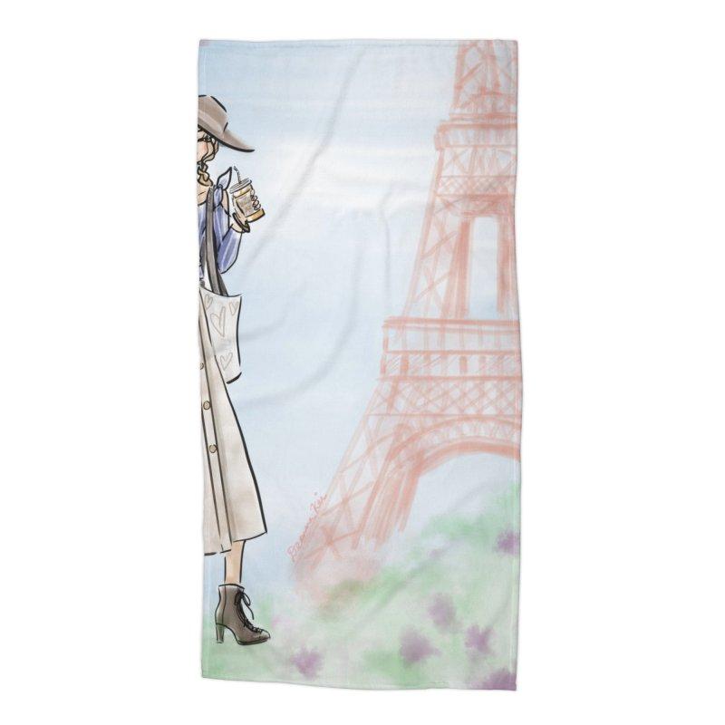 Springtime in Paris Accessories Beach Towel by deannakei's Artist Shop