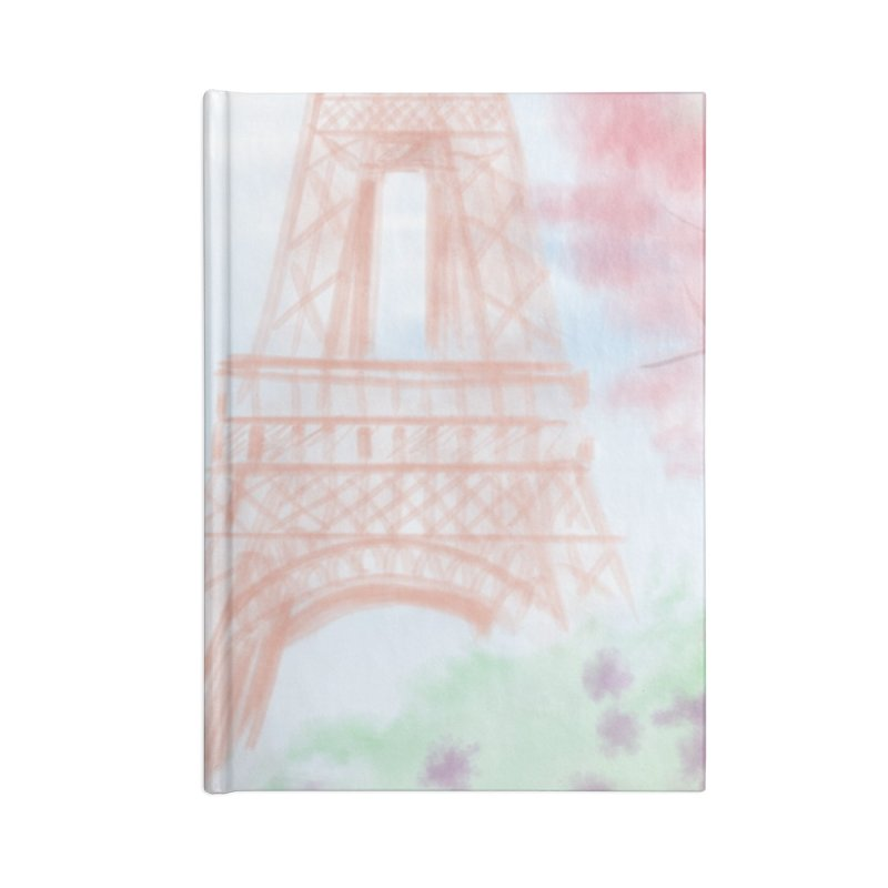 Springtime in Paris Accessories Lined Journal Notebook by deannakei's Artist Shop