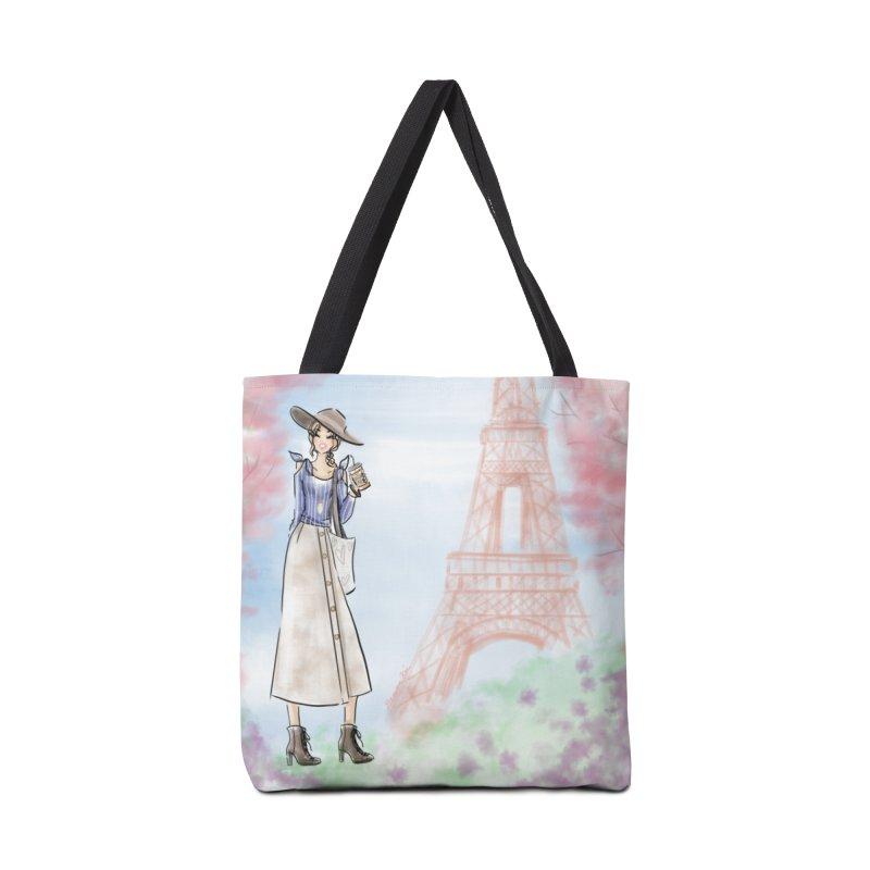 Springtime in Paris Accessories Tote Bag Bag by deannakei's Artist Shop