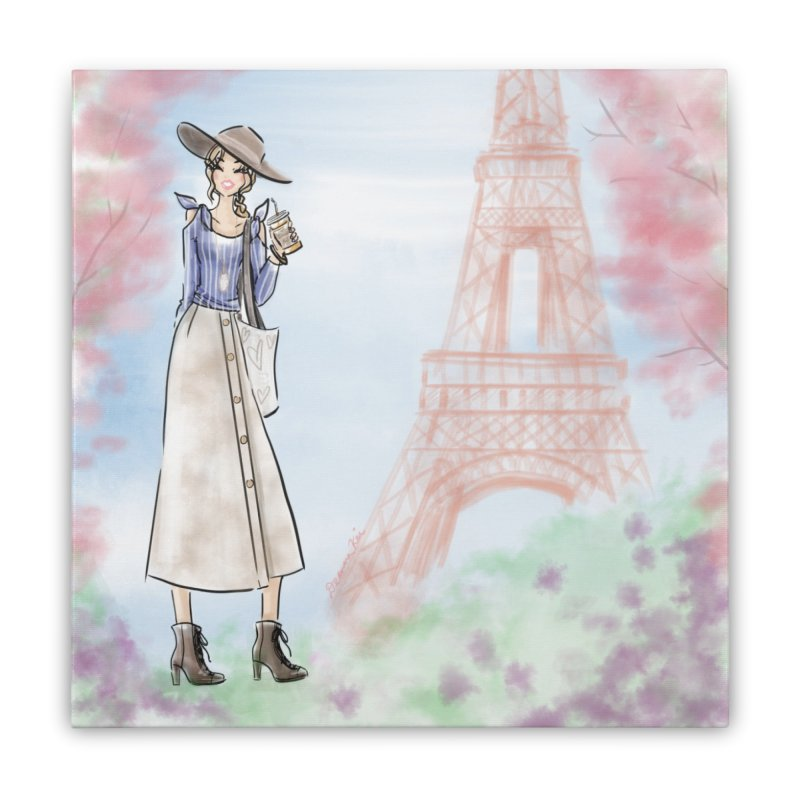 Springtime in Paris Home Stretched Canvas by Deanna Kei's Artist Shop