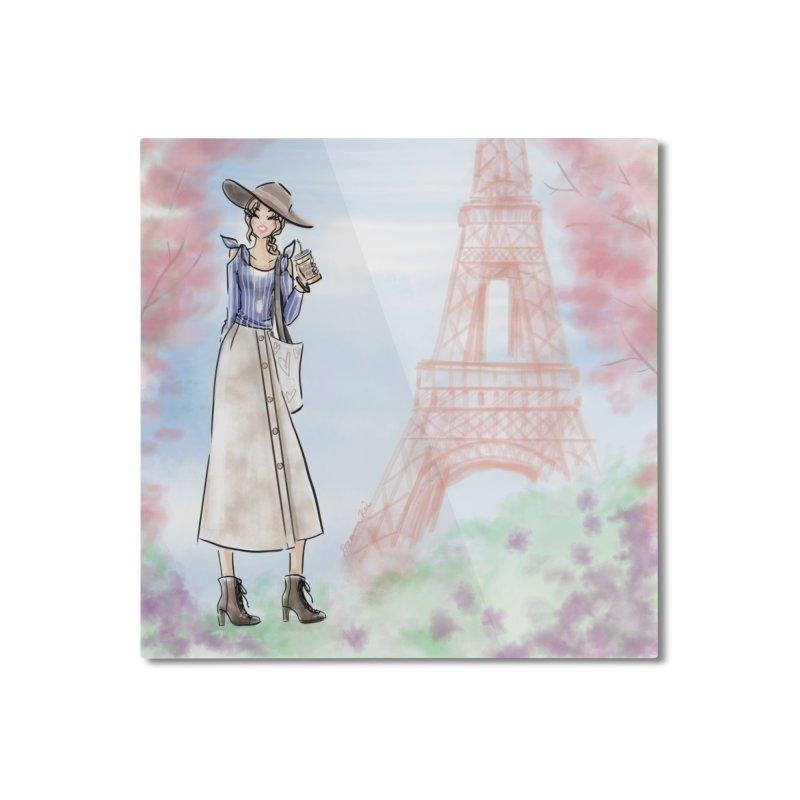 Springtime in Paris Home Mounted Aluminum Print by Deanna Kei's Artist Shop