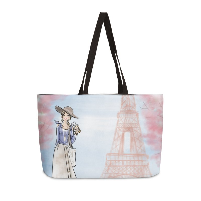 Springtime in Paris Accessories Weekender Bag Bag by deannakei's Artist Shop