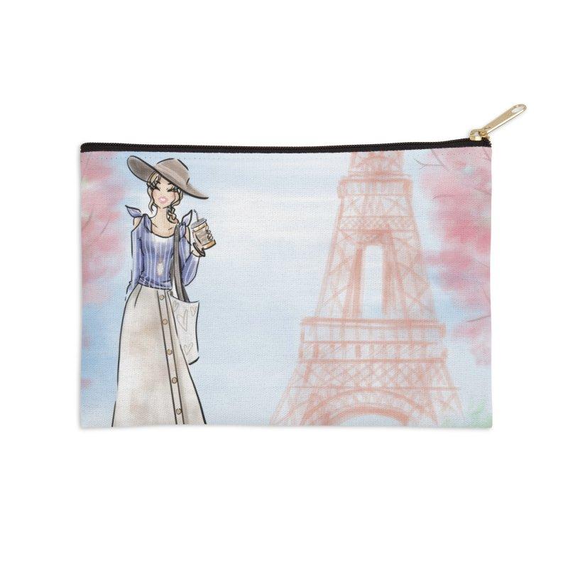 Springtime in Paris Accessories Zip Pouch by deannakei's Artist Shop