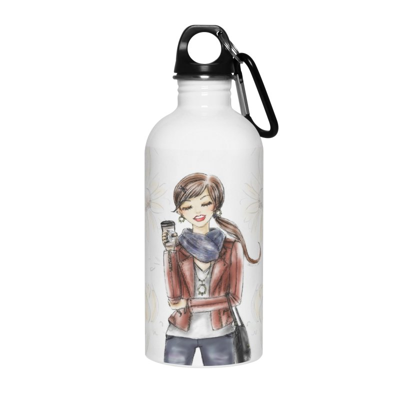 Fall Fashion Vibes Accessories Water Bottle by Deanna Kei's Artist Shop