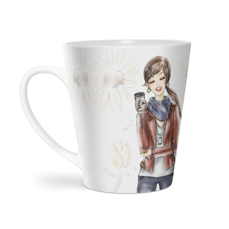 Fall Fashion Vibes Accessories Latte Mug by deannakei's Artist Shop