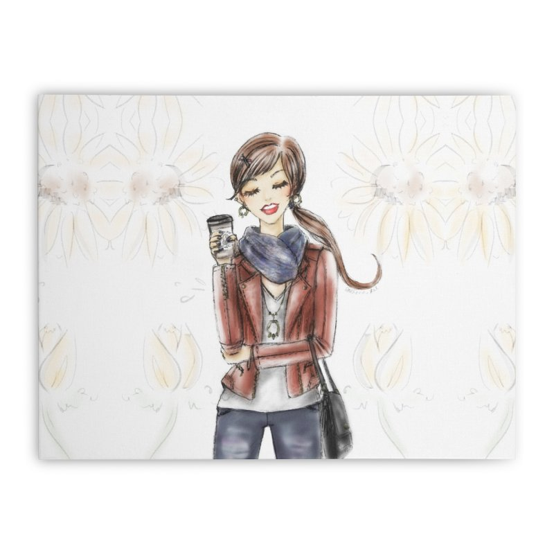 Fall Fashion Vibes Home Stretched Canvas by deannakei's Artist Shop