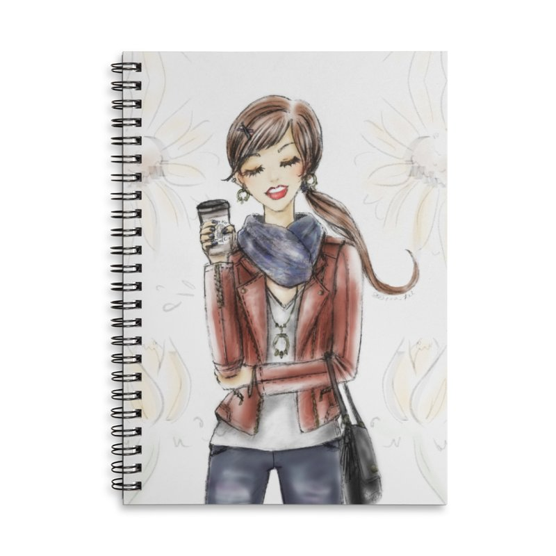 Fall Fashion Vibes Accessories Lined Spiral Notebook by deannakei's Artist Shop