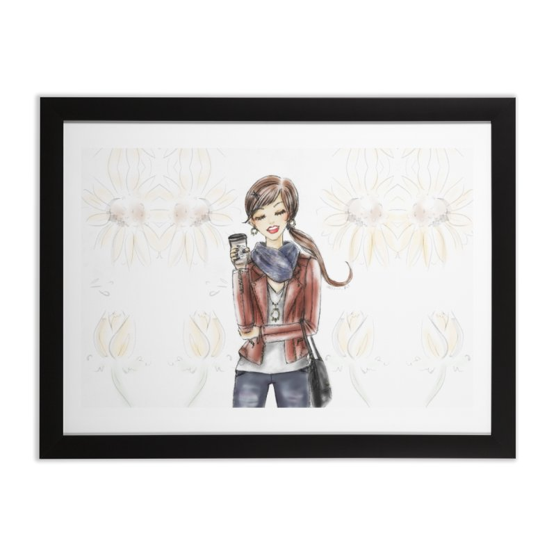 Fall Fashion Vibes Home Framed Fine Art Print by deannakei's Artist Shop