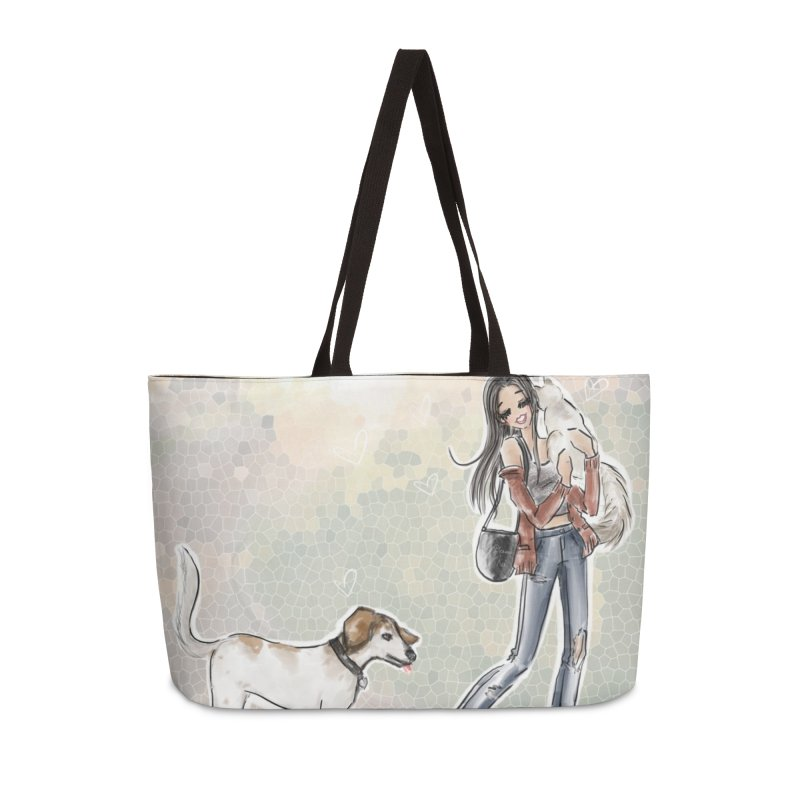 Fall Stroll with Pets Accessories Weekender Bag Bag by deannakei's Artist Shop