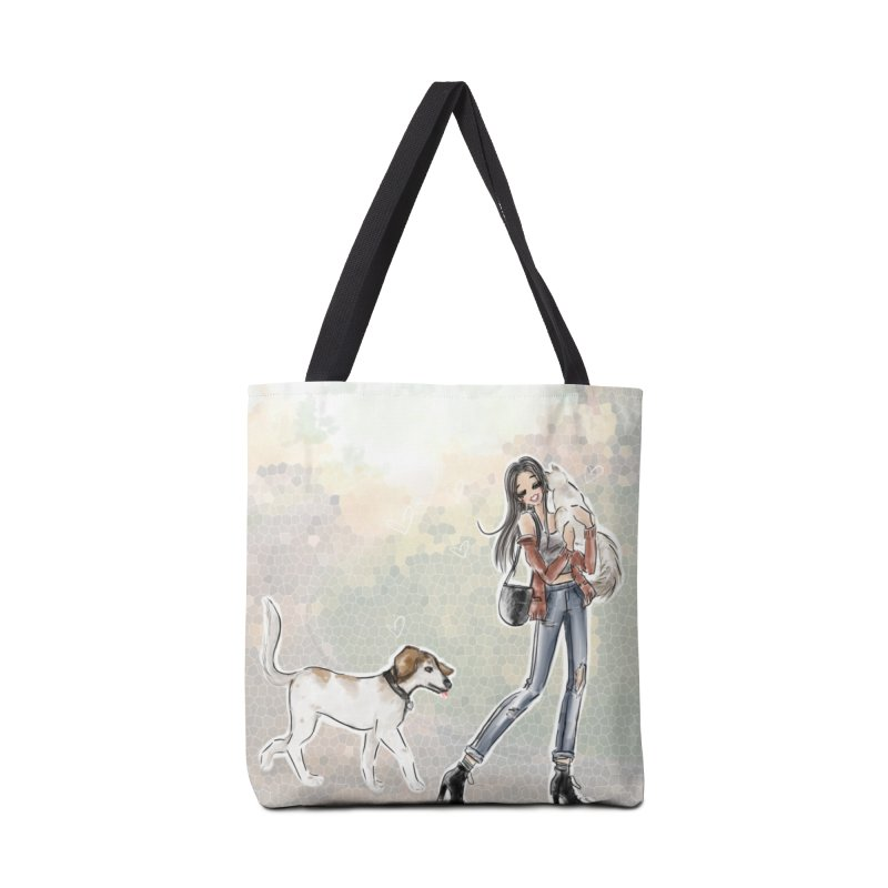 Fall Stroll with Pets Accessories Bag by Deanna Kei's Artist Shop