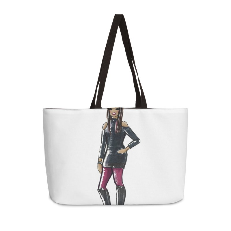 Custom Sketch - Carissa Accessories Weekender Bag Bag by deannakei's Artist Shop