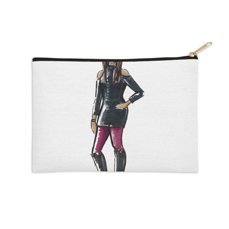 Custom Sketch - Carissa Accessories Zip Pouch by deannakei's Artist Shop