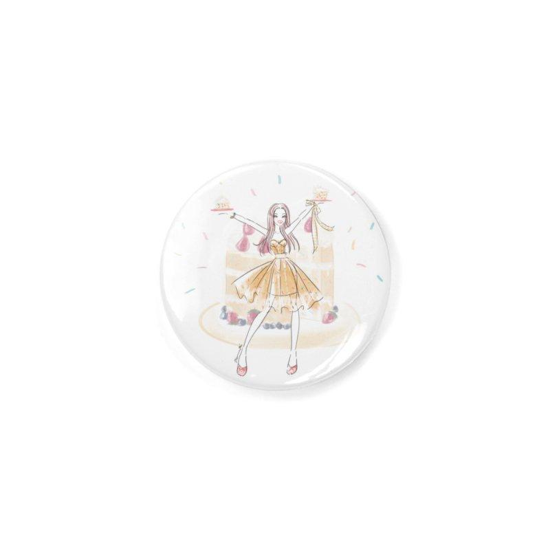 Funfetti Cake Girl Accessories Button by Deanna Kei's Artist Shop
