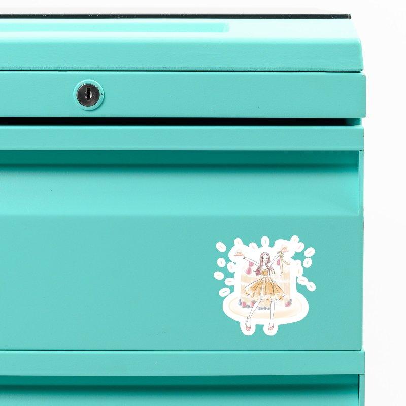 Funfetti Cake Girl Accessories Magnet by Deanna Kei's Artist Shop