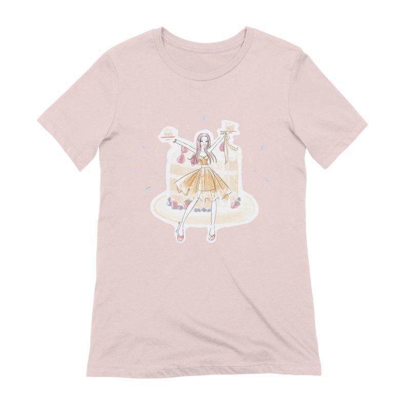 Funfetti Cake Girl Women's Extra Soft T-Shirt by Deanna Kei's Artist Shop