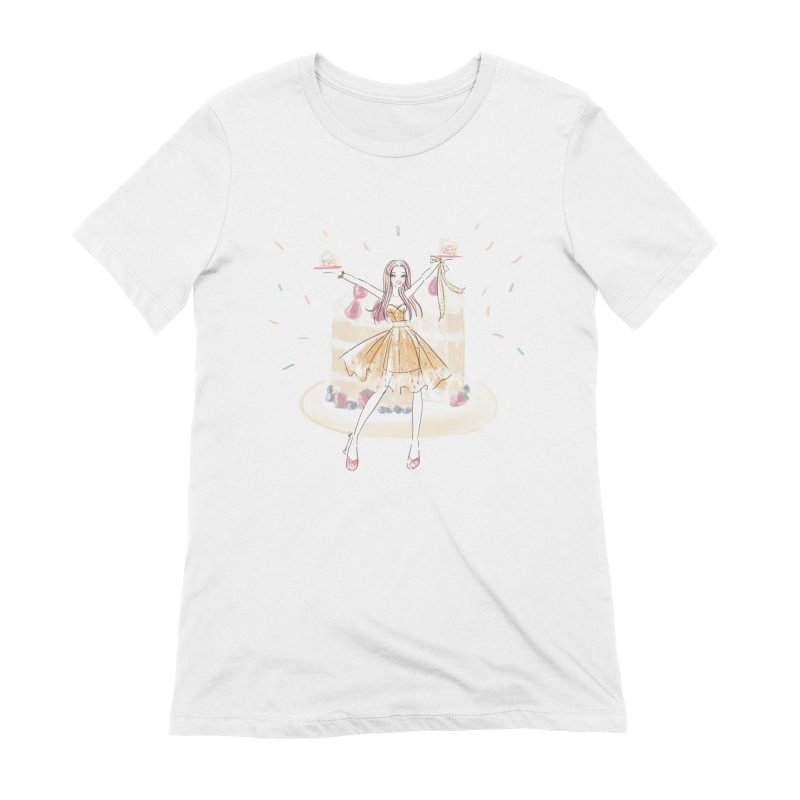Funfetti Cake Girl Women's Extra Soft T-Shirt by Deanna Kei's Artist Shop
