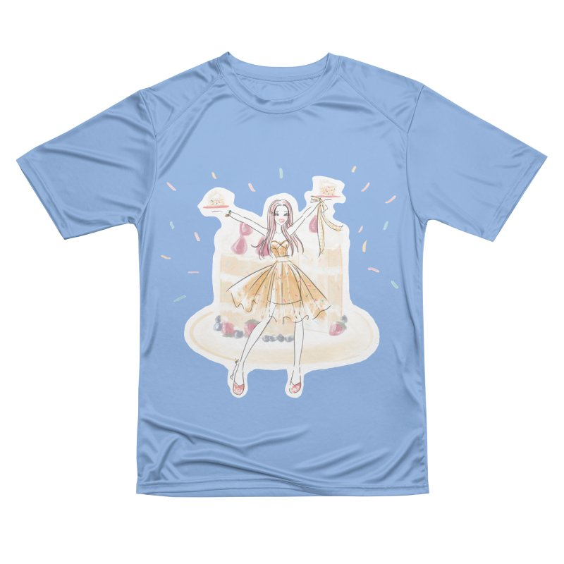 Funfetti Cake Girl Women's Performance Unisex T-Shirt by Deanna Kei's Artist Shop
