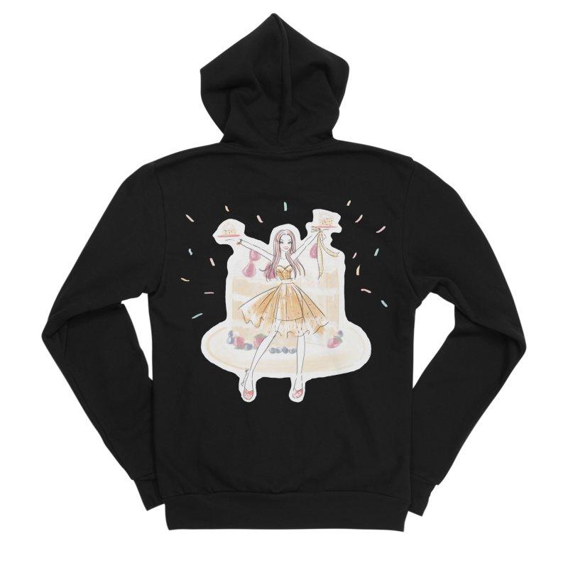 Funfetti Cake Girl Women's Sponge Fleece Zip-Up Hoody by Deanna Kei's Artist Shop