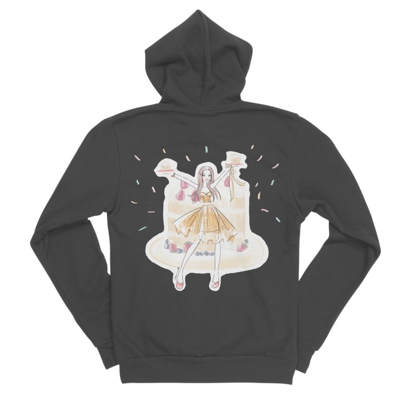 Funfetti Cake Girl Women's Sponge Fleece Zip-Up Hoody by Deanna Kei's Artist Shop